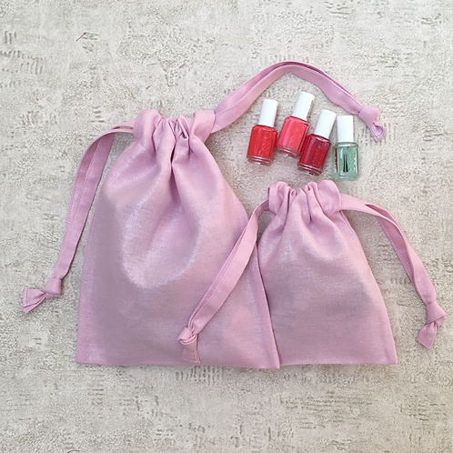 smallbags rose brillant - 2 tailles / lightening rose bags - 2 sizes