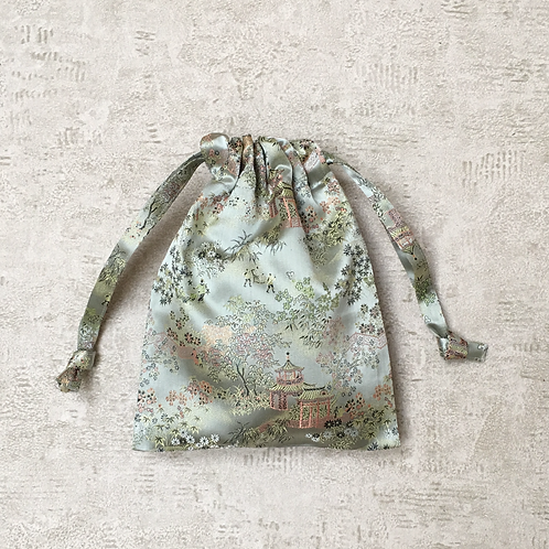 smallbags tissu chinois vert clair  / light green chinese bags