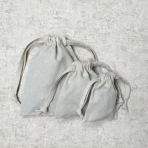 smallbags en toile métis lin coton - 5 tailles / cotton & linen bags - 5 sizes