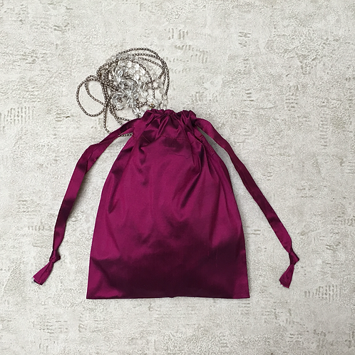 smallbags soie sauvage violette - 2 tailles / purple silk bags - 2 sizes