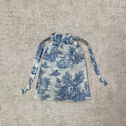 smallbags drap de coton inspiration Toile de Jouy  / cotton sheet bag - 3 sizes