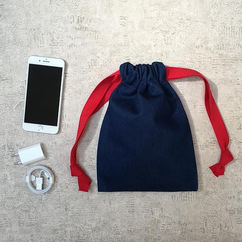 smallbags denim bleu medium - 2 tailles / medium blue denim bags - 2 sizes