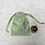 Thumbnail: smallbag unique taffetas reflets verts / unique taffetas reflecting green bag