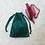 Thumbnail: smallbag unique soie sauvage verte  / unique green silk bag