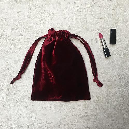 smallbags velours lisse changeant / blue velvet reflecting red bag