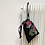 Thumbnail: smallbag unique noir fleuri / unique flowered black bag