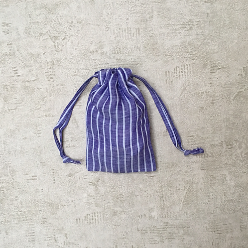 smallbag unique en lin bleu roi / unique blue linen bag