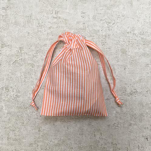 smallbag unique toile drap / unique orange stripped cotton bag