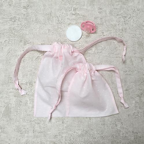 smallbags voile de coton - 2 tailles / cotton veil fabric bags - 2 sizes
