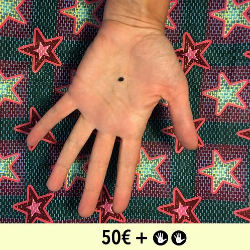 DON 50€ + 2 BADGES - diam. 25mm / DONATE 50€ + PIN BADGE x2 - diam; 0,98 in