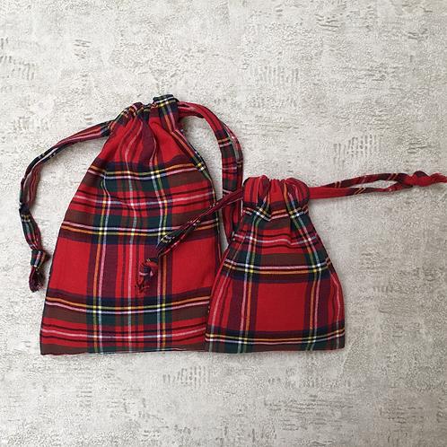 smallbags coton écossais - 2 tailles / scotisch cotton bags - 2 sizes