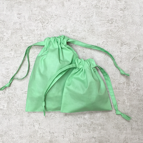 smallbags unis - 2 tailles - 6 couleurs / cotton sheet bags - 2 sizes - 6 colors