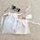 Thumbnail: smallbags piqué de coton blanc - 2 tailles / stitched cotton bags - 2 sizes