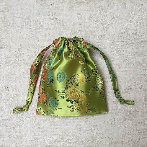 smallbags tissu chinois vert  / green chinese bags