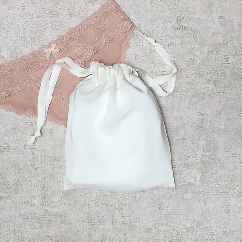 smallbags crepe de soie - 2 tailles / ivory silk crepe bags - 2 size