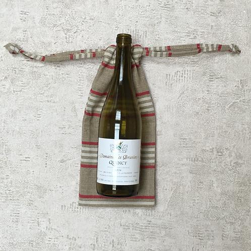 sac à bouteille unique - lin épais / unique bottle bag - linen