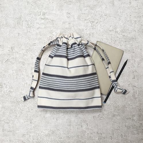 smallbag unique ivoire rayé  / unique coton striped bag