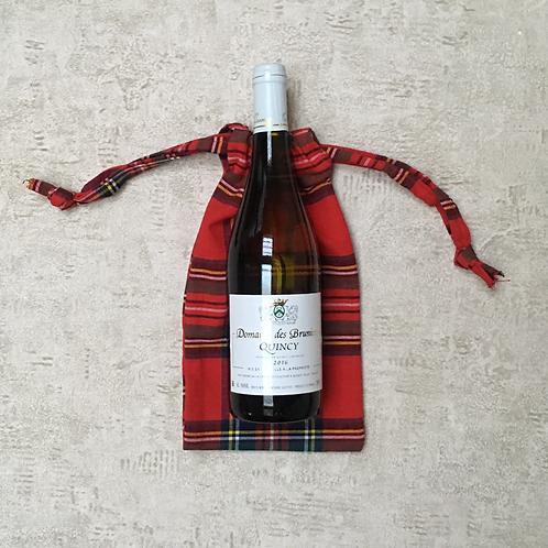 sac à bouteille - coton écossais