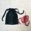 Thumbnail: smallbag unique soie marine et vert  / unique silk bag