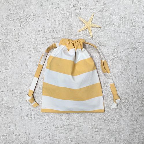 smallbag coton rayé recyclé / recycled cotton bag