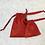 Thumbnail: smallbags imprimés étoiles dorées - 2 tailles / red cotton printed golden stars