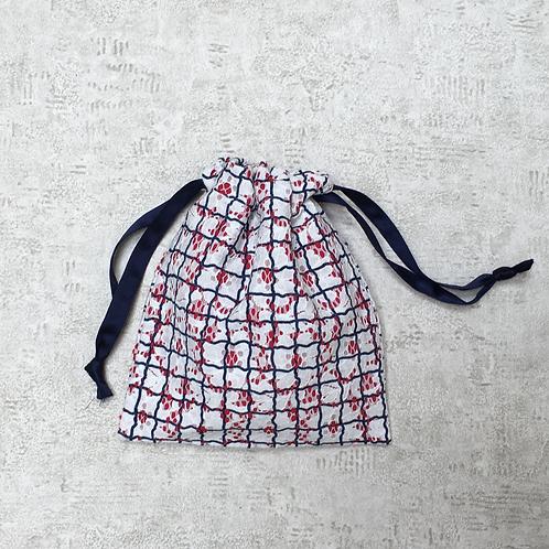 smallbag unique dentelle blanche doublé / unique lace & cotton veil bag