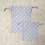 Thumbnail: smallbags gris à pois blancs - 2 tailles / grey cotton white peas bags - 2 sizes