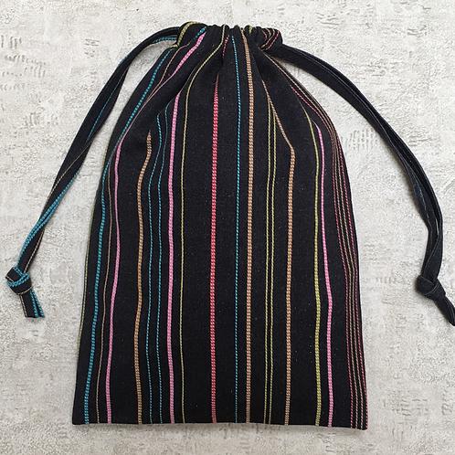 sacs à linge à rayures /  striped laundry bag