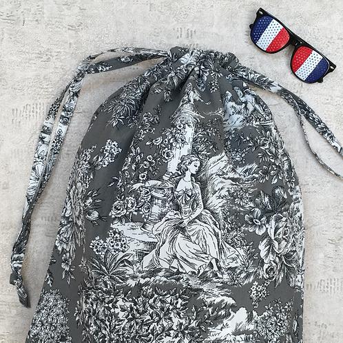 kit unique inspiration toile de jouy / unique laundry bag & pouch