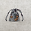 Thumbnail: smallbags imprimé gris  - 2 tailles / grey flowered cotton fabric bags - 2 sizes