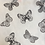 Thumbnail: small bag unique imprimé papillon gris / grey butterflies printed fabric