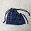 Thumbnail: smallbags lainage fin écossais bleu - 2 tailles / scottish fabric bags - 2 sizes