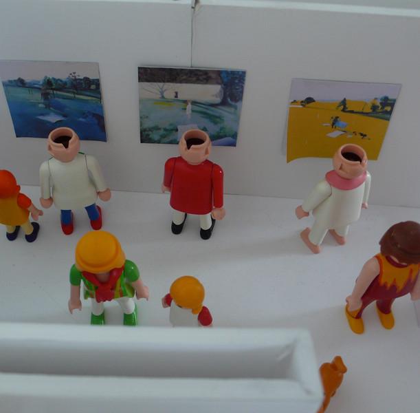 Maquette préparatoire pour l'accrochage de l'exposition la voleuse.