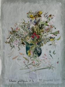 2018  huile sur papier macule  106 x 80 cm