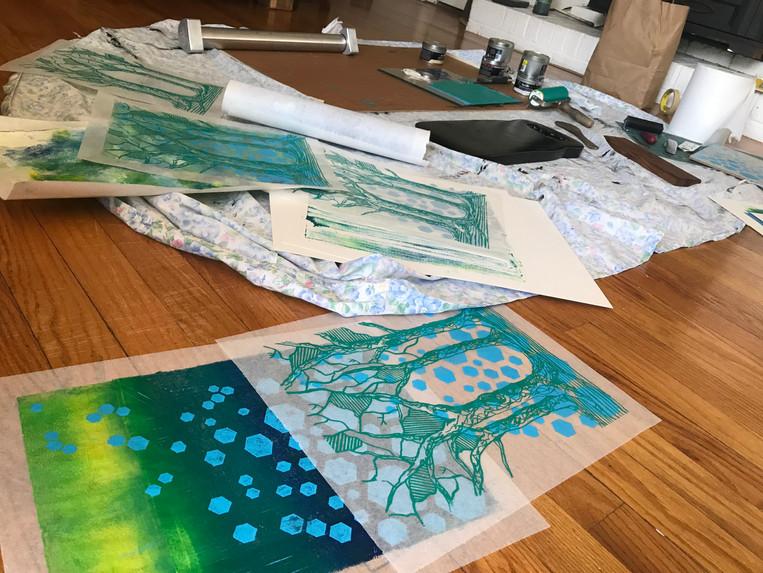 Living Room Floor Printmaking Studio