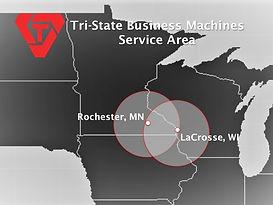 Tri-State Business Macines service area Minnesota, Wisconsin, Iowa, Rochester, LaCrosse