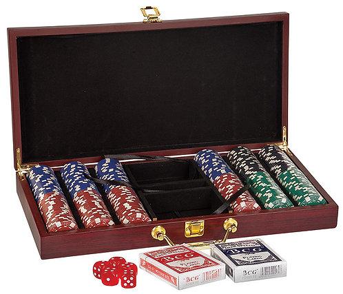 Rosewood Poker Set