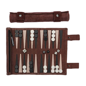 Roll-Up Suede Backgammon Set