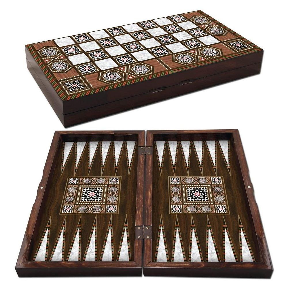 19'' Magic Large Star Backgammon Turkish Premium Board Game Set