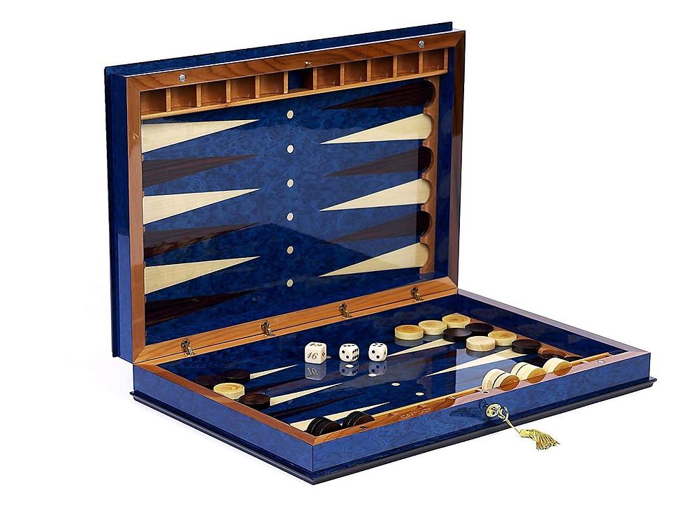 "Giovanni Luxury Wooden Backgammon Set from Italy 26"""
