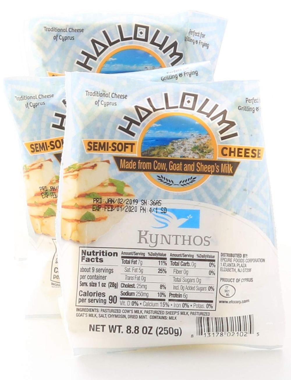 Kynthos Halloumi Cheese 3-Pack