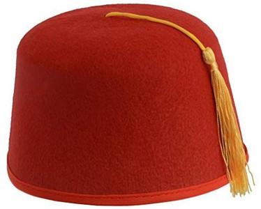 Red Fez Felt Hat