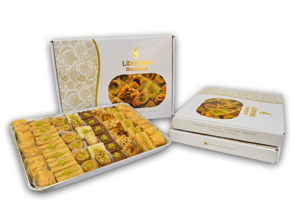 Libanais Baklava, 63 Piece Assortment