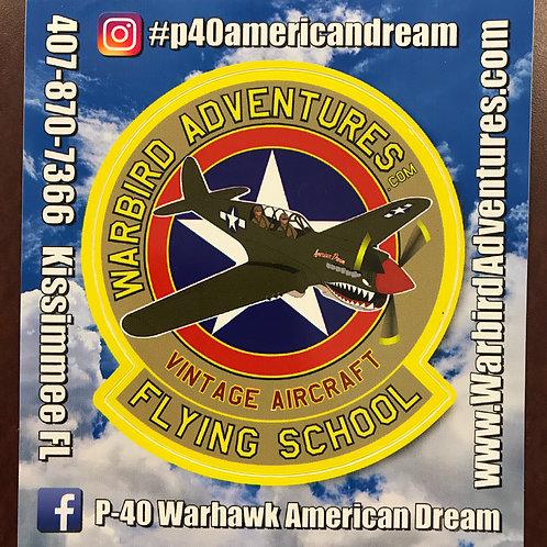 "P-40 ""American Dream"" Vinyl Decal"