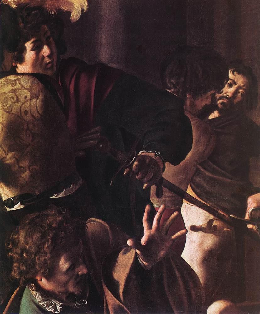 סיור חינם ברומא - ייסורי המוות של הקדוש מתיאו מאת קרוואג'יו