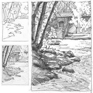 Riparian Scene from Thumbnail to Final