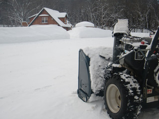 The snowblower had to work again..