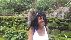 Cynthia monkeying around