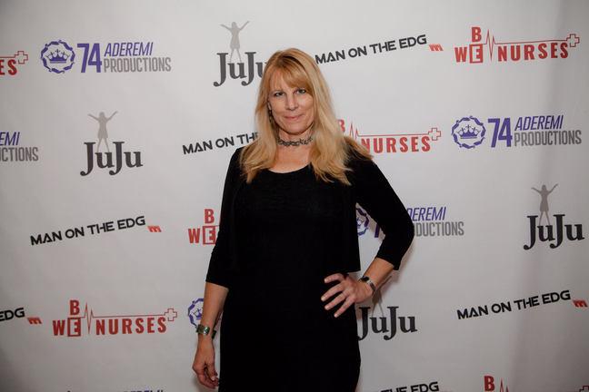 Linda Collins at We Be Nurses screening