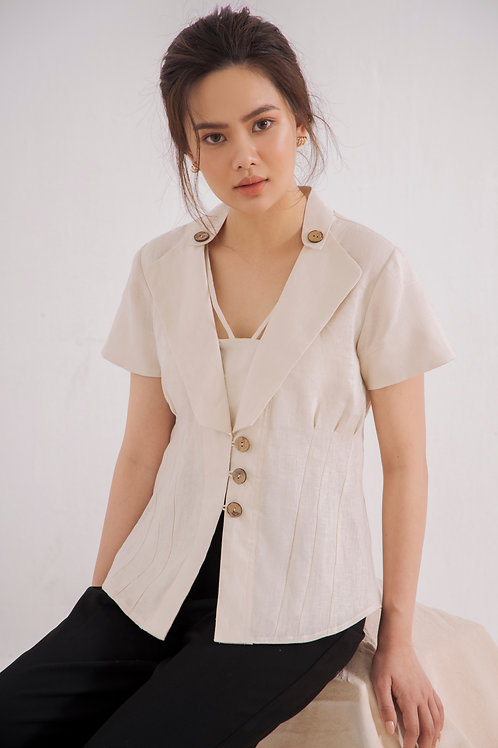 Statement Linen Collar Shirt